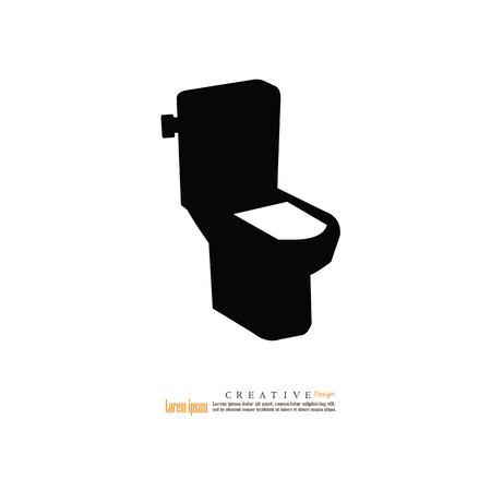 toilet icon.vector illustration.
