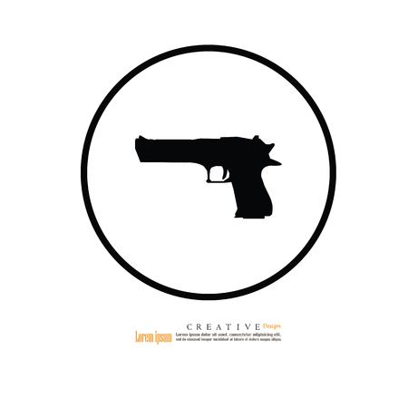 gun icon.vector illustration.