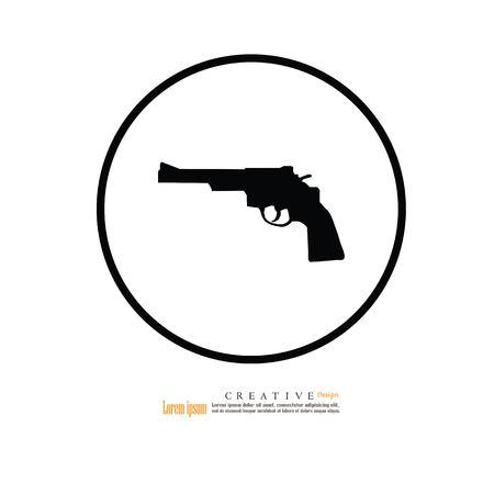 gun icon.vector illustration.