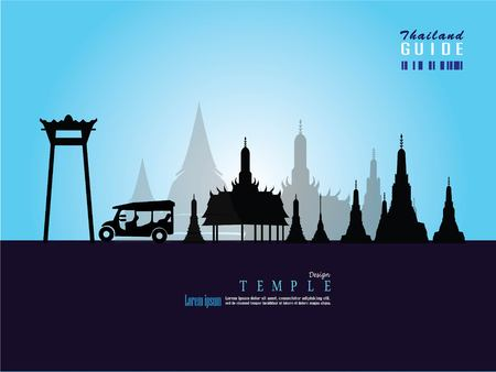 Thailand temple vector.Thailand temple.thailand guide.vector  illustration. 向量圖像