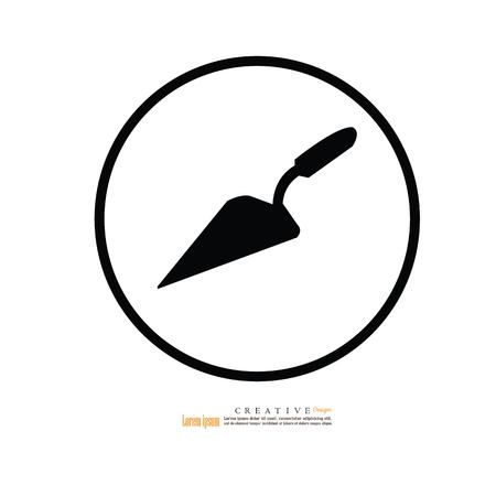 Trowel icon.vector illustration. Stock Illustratie