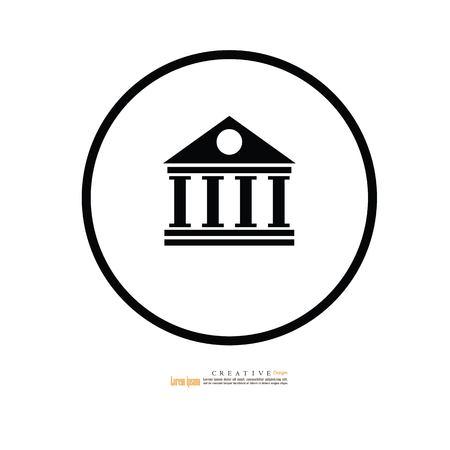bank icon.official building.vector illustration. Ilustración de vector