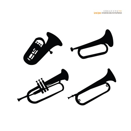 Music horn icon. Vector illustration.