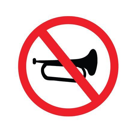 No sound sign. Keep Quiet Vector Symbol.vector illustration.