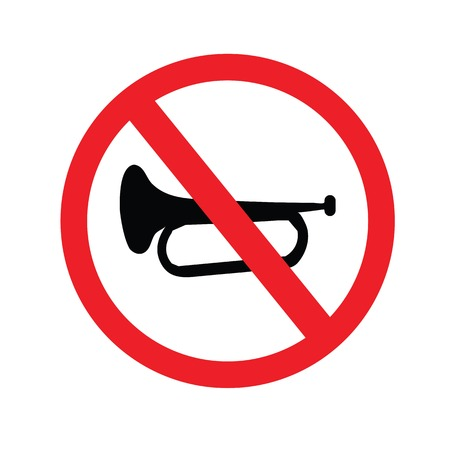 No sound sign. Keep Quiet Vector Symbol.vector illustration.