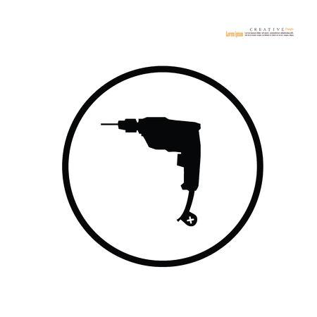 drill icon.vector illustration. Stock Illustratie