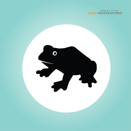 frog icon.vector illustration.