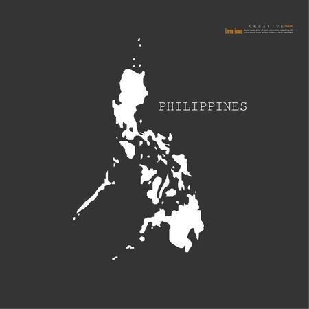 outline map of Philippines. vector illustration. 矢量图像