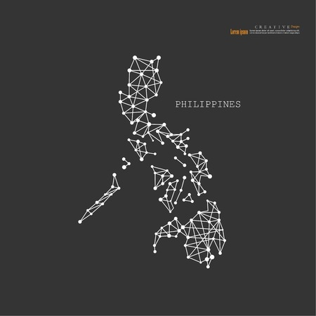 outline map of Philippines. vector illustration. Illustration