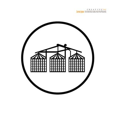 grain silo.silo.vector illustration. 向量圖像