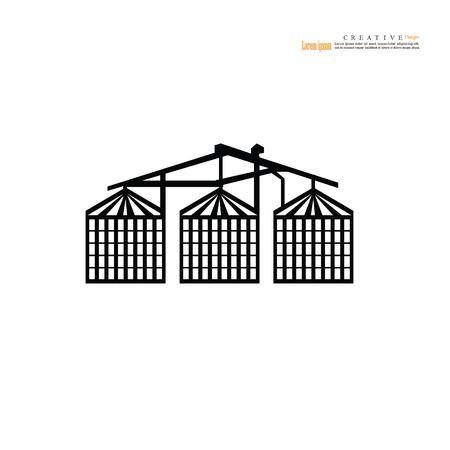 grain silo.silo.vector illustration. Illustration