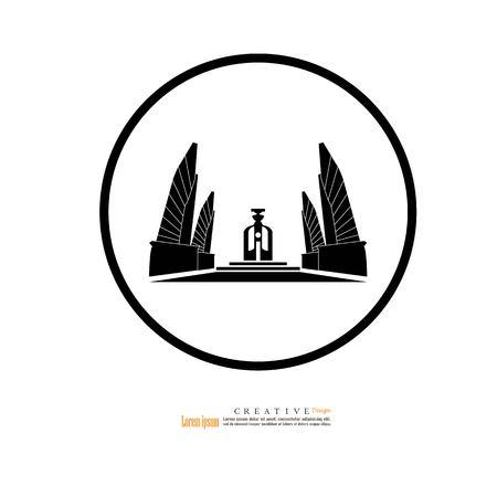Bangkok, Thailand - October 24, 2018 : Democracy Monument,landmark of Bangkok thailand.vector illustration. Vector Illustration