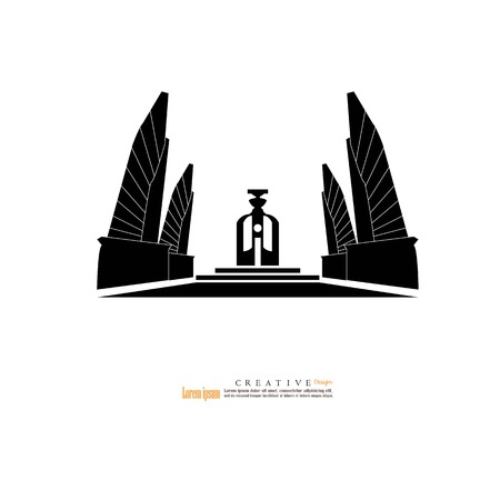 Bangkok, Thailand - October 24, 2018 : Democracy Monument,landmark of Bangkok thailand.vector illustration. Illustration