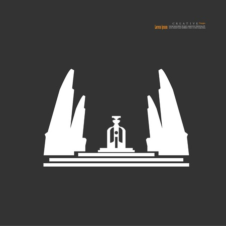 Bangkok, Thailand - October 24, 2018 : Democracy Monument,landmark of Bangkok thailand.vector illustration.