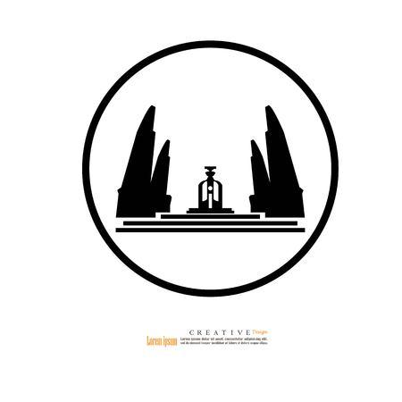 Bangkok, Thaïlande - 24 octobre 2018 : Monument de la démocratie, monument de Bangkok thailand.vector illustration. Vecteurs