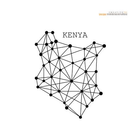 cartina muta del Kenya. illustrazione vettoriale.