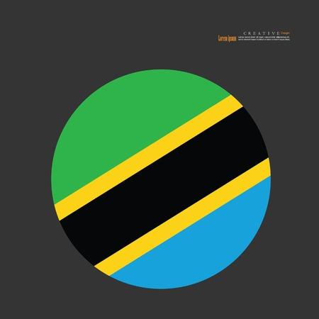 Tanzania national flag background texture.vector illustration.