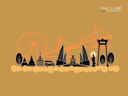 Thailand temple vector.Thailand temple.thailand guide.vector illustration.