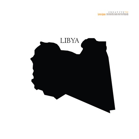 outline map of  Libya. vector illustration. Illustration