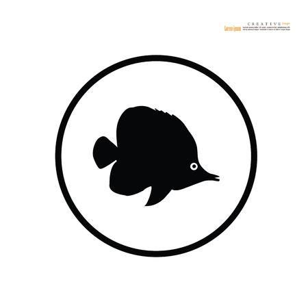 fish vector.Fish Silhouette. vector Illustration.