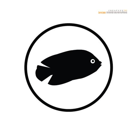 fish vector.Fish Silhouette. vector Illustration.