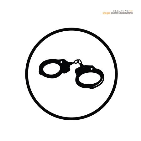 handcuffs.handcuffs icon.vector illustration.