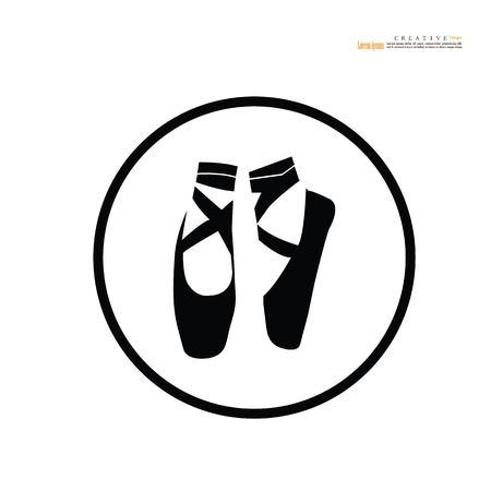 Ballet icon.dance studio symbol.vector illustration.