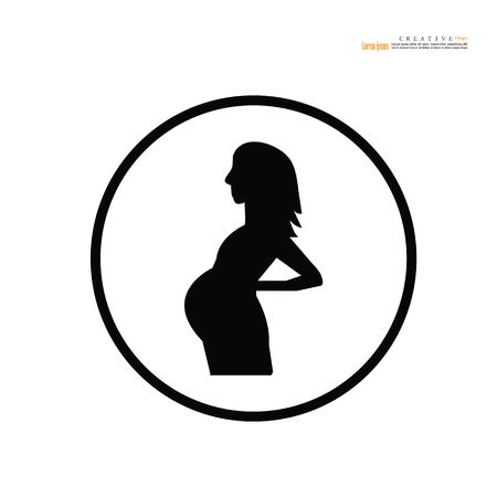 pregnant woman.vector illustration. Ilustração
