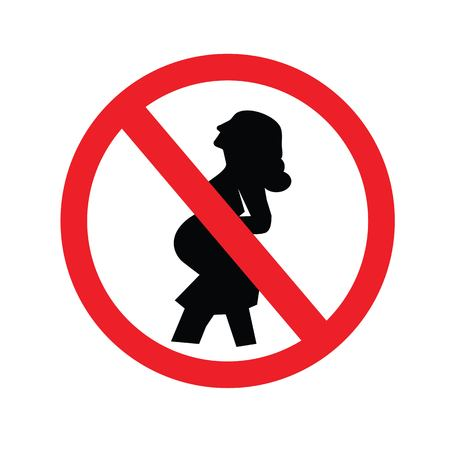 no pregnant woman sign.prohibit sign.vector illustration.