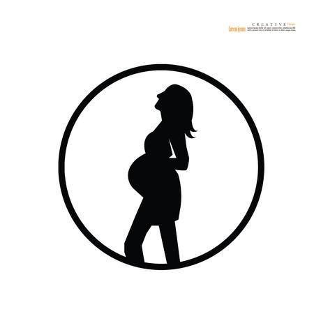 pregnant woman.vector illustration. Banco de Imagens - 115280853