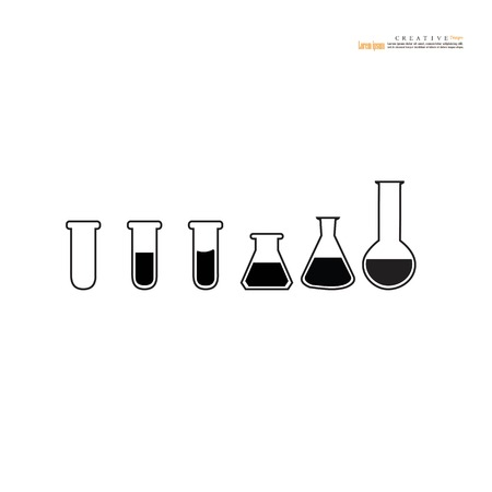 test-tube.science concept.vector illustration.