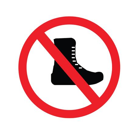 No military boots sign.Boots for soldiers.vector illustration.