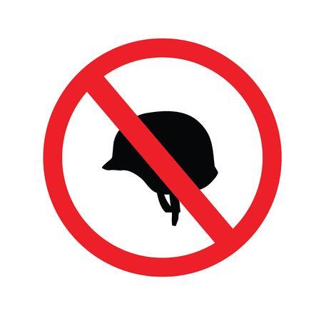 No army helmet mockup sign.vector illustration.