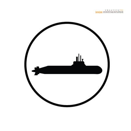 submarine icon.Vector illustration.