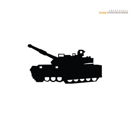 Tank icon.Military machine.vector illustration. Imagens - 115280969