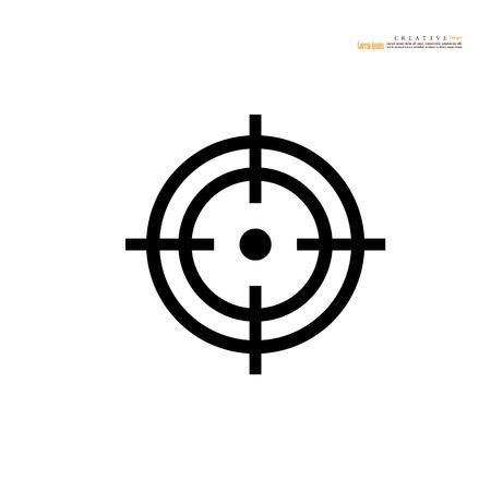 Target icon sign vector illustration.