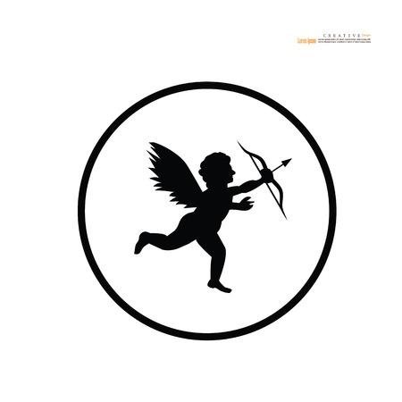 cupid icon.vector illustration.