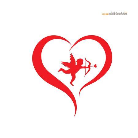Amor-Symbol. Vektor-Illustration. Vektorgrafik