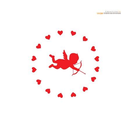 cupid icon.love concept.vector illustration. Ilustrace