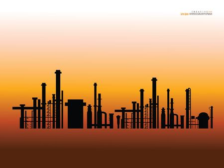 refineries and power plants.oil factory concept. vector illustration.