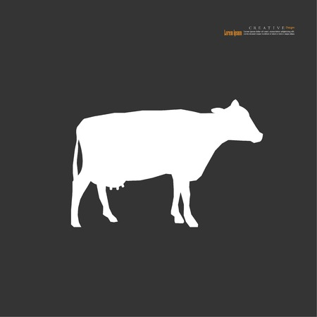 cow icon.bull icon.cattle concept. vector illustration.