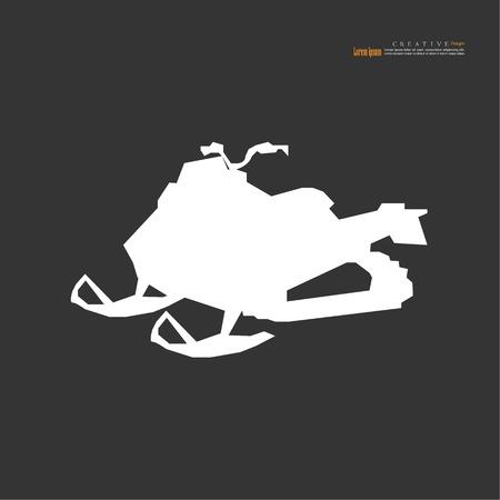 snowmobile icon.Vector illustration.