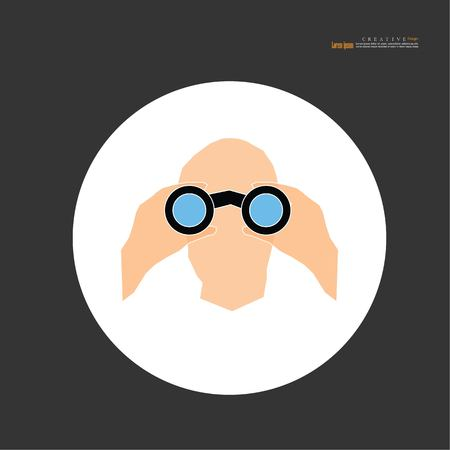 man with binoculars.vector illustration. Banque d'images - 120331552