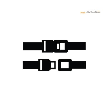 Safety belt. Seat Belt. Vector Illustration. Vektorové ilustrace
