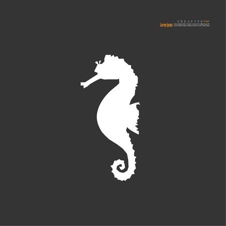 sea horse icon.sea animals.vector illustration. Stock Illustratie