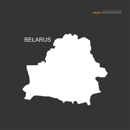 outline map of Belarus.vector illustration.