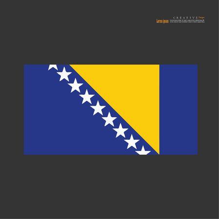 Bosnia and Herzegovina  national flag background texture.vector illustration. Illustration