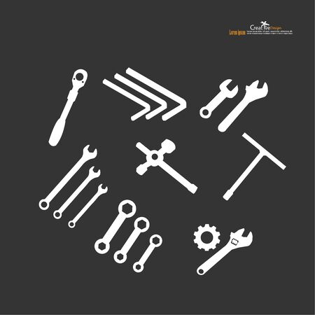 wrench icon on white background.craftsman tool.vector illustration.