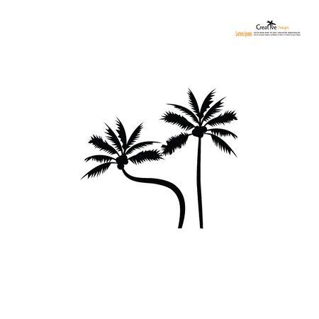 coconut tree,palm tree icon.vector illustration.eps10. Çizim