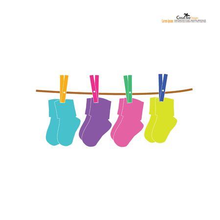 baby socks icon.baby and child related icon.vector illustration. Vektoros illusztráció
